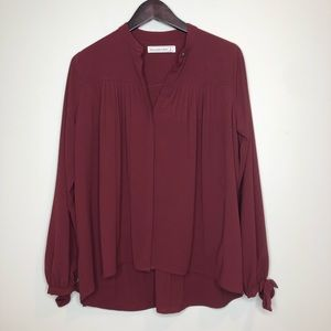 Abercrombie and Fitch Burgundy Blouse Size Small
